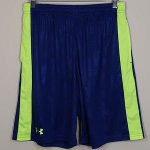 Striped Blue Basketball Shorts